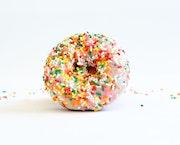 Vanilla Rainbow Sprinkles Cake